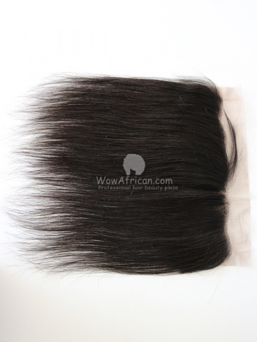 Natural Color Silky Straight Brazilian Virgin Hair Lace Frontal[CSL18]