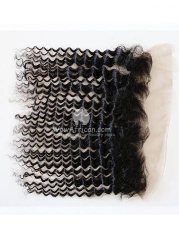 Natural Color Water Wave Brazilian Virgin Hair Lace Frontal[CSL22]