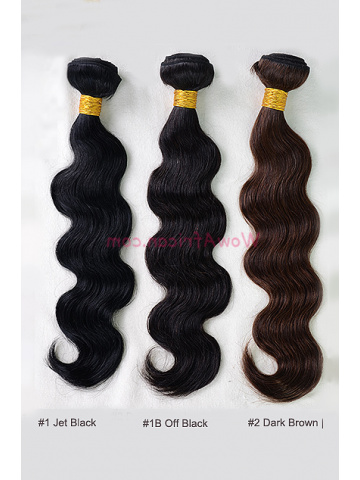 Colored (#1 #1B #2 #3 #4 #5) Body Wave Virgin Brazilian Hair Weave 3pcs Bundle[WB235]