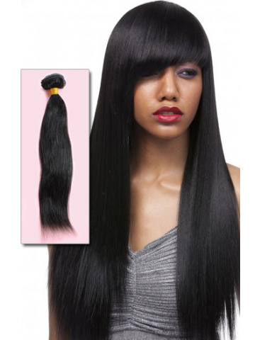 #1B Off Black Yaki Straight Indian Remy Hair Weave [WTI07]
