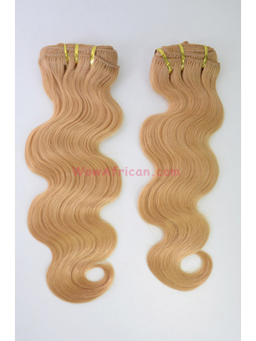 2 Packs Clip In Hair Brazilian Virgin #24 Body Wave 10pcs[CSC10]