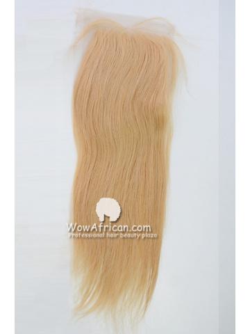 #24 Silky Straight Brazilian Virgin Hair Lace Closure 4x5inches [CSL01]