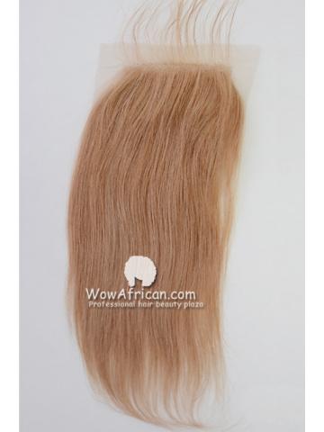 #27 Silky Straight Brazilian Virgin Hair Lace Closure 4x5inches [CSL03]