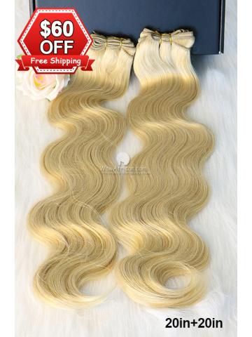 #613A Body Wave Remy Hair Weave 2pcs Bundle[CSB18]