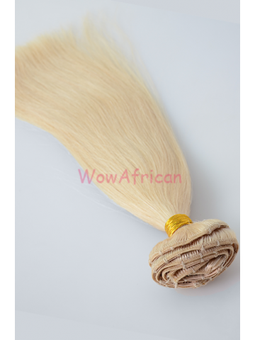 8pcs Clip in Virgin Human Hair Dyable Blonde Color[CPO613A]