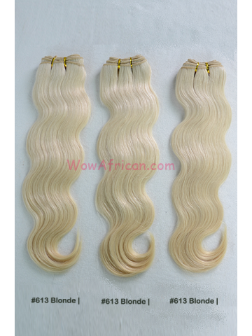 Dyable Blonde (#27 #613) Body Wave Virgin Brazilian Hair Weave 3pcs Bundle