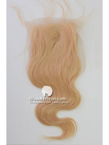 #613 Body Wave Brazilian Virgin Hair Lace Closure 4x5inches [CSL06]