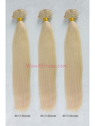 Dyable Blonde (#27 #613) Silky Straight Virgin Brazilian Hair Weave 3pcs Bundles [WB241]