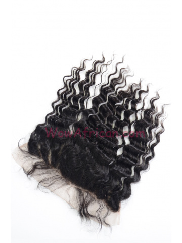 Natural Color Brazilian Wave Brazilian Virgin Hair Lace Frontal [LF26]