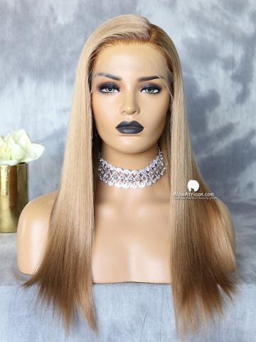 13X6in HD Swiss Lace Front Wig Ash Blonde Virgin Brazilian Hair [LFW601]