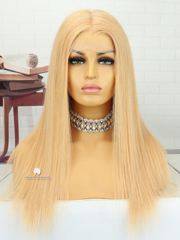 18in Blonde Silky Straight Brazilian Virgin Hair Full Lace Wig[MS187]