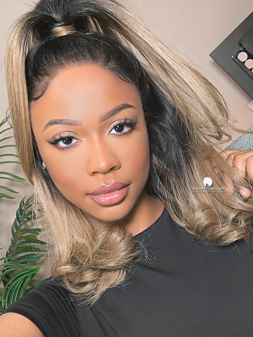 Blonde Ombre Long Bob Lace Wig [Lynsey007]