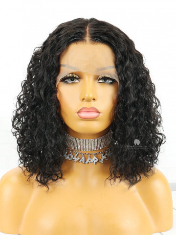 Wet and Wavy Look Virgin Human Hair Bob Wig [CBW34]