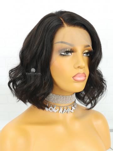 Short Wavy Brazilian Hair Bob Lace Front Wig [CBW21]