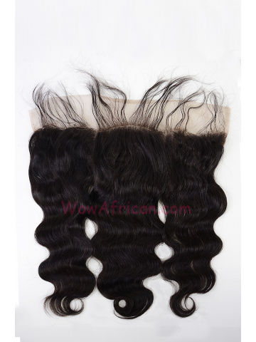 Natural Color Body Wave Brazilian Virgin Hair Lace Frontal [LF18]