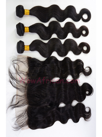 Body Wave Virgin Brazilian Hair Lace Frontal with 3pcs Weaves[WB280]