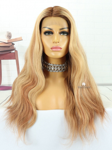 20in Ombre Blonde Front Lace Wigs Brazilian Hair [MS112]