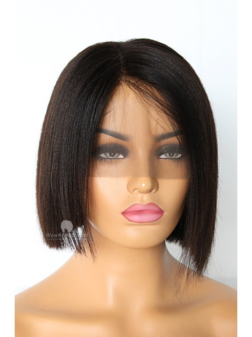 8in 180% Density Yaki Straight Brazilian Virgin 360 Lace Wig[WCS109]