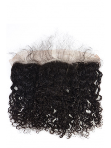 Natural Color Brazilian Curl Brazilian Virgin Hair Lace Frontal [LF27]