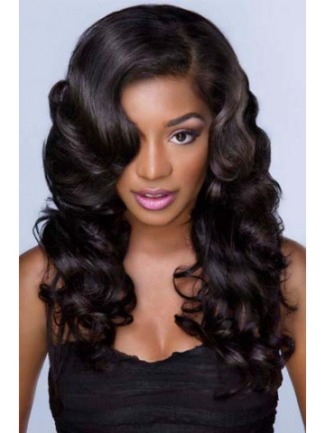 Natural Color Body wave Brazilian Virgin Hair Glueless Full Lace Wigs[GFL11]
