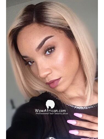 Beyonce Inspired Bob Style Brazilian Ombre Hair Lace Wig[CBW04]