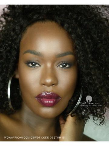 Black Curly BOB Human Virgin Hair Lace Front Wig [Destiny004]