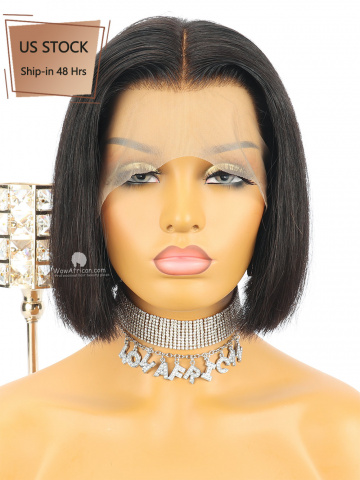 Virgin Brazilian Hair Cute Bob Wig
