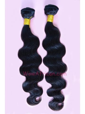 Natural Color Body Wave Indian Virgin Hair Weave 2pcs Bundle[WB43]