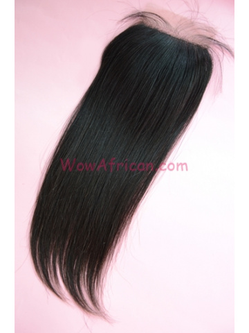 Natural Color Silky Straight European Virgin Hair Silk Base Closure 4x4inches [SC31]