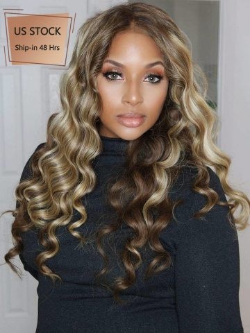 Ciara Blonde Highlights Wavy Lace Wigs[CLW02]