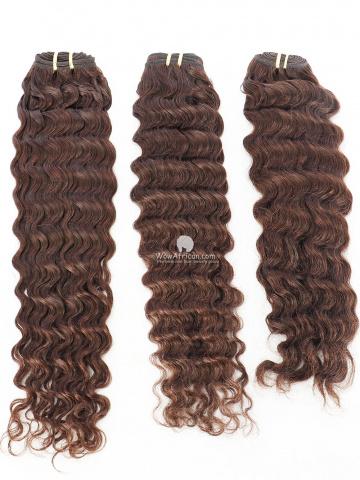 Clearance #2 Dark Brown Deep Wave Indian Hair Weave 3pcs Bundles[CS17]
