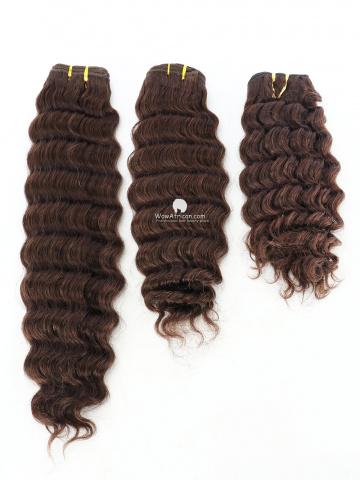 #2 Dark Brown Deep Wave Indian Hair Weave 3pcs Bundles[CS18]