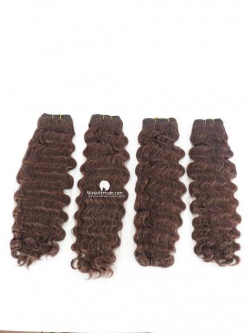 #2 Dark Brown Deep Wave Indian Hair Weave 4pcs Bundles[CS20]