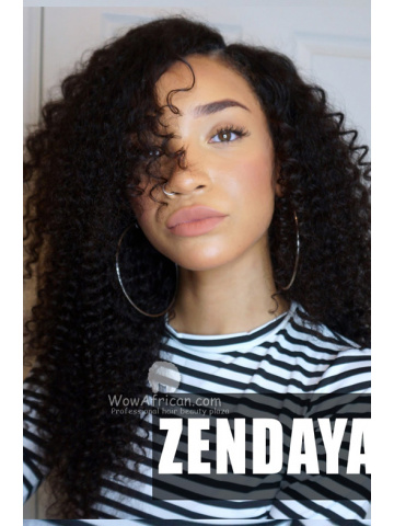 Raven Elyse Zendaya AMAs Inspired Big Sexy Curls Brazilian Virgin Hair Lace Wig