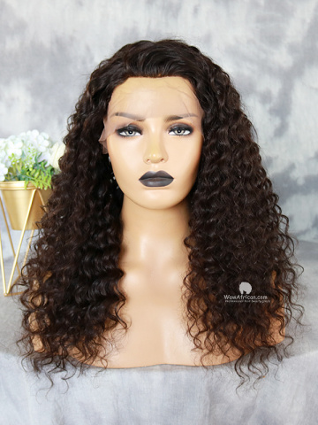 20in Natural Color Deep Wave Virgin Brazilian Lace Front Wig[WCD-01]