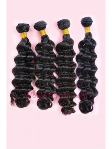Indian Virgin Hair Weave 4pcs Bundle Natural Color Brazilian Wave[WB90]