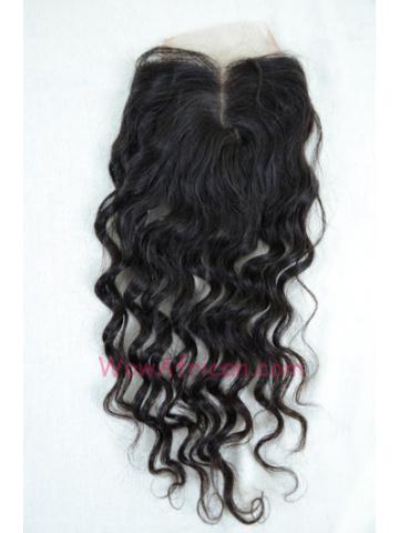 Middle Part Lace Closure Brazilian Wave Brazilian Virgin Hair [MC07]
