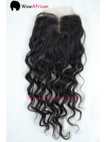 Natural Color Brazilian Wave Brazilian Virgin Hair Silk Base Closure 4x4inches [SC36]