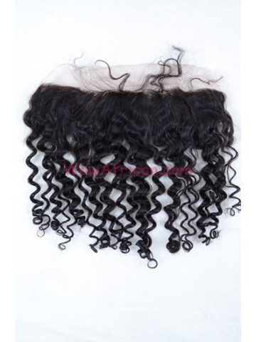 Natural Color Water Wave Brazilian Virgin Hair Lace Frontal [LF20]