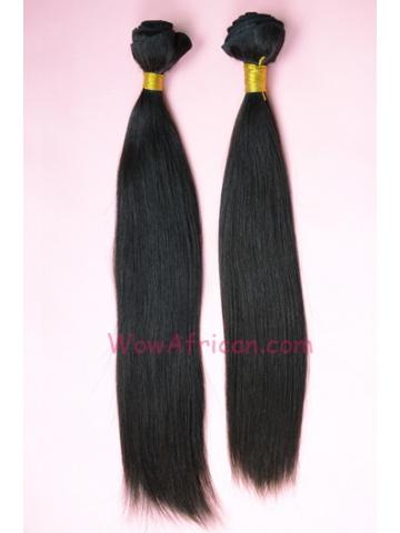Natural Color Silky Straight Brazilian Virgin Hair Weave 2pcs Bundle[WB06]
