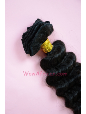Natural Color Deep Wave European Virgin Hair Weave [WTE04]
