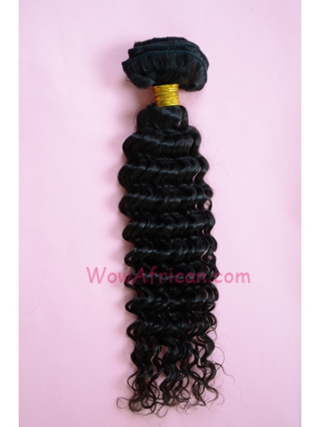 05Natural Color Water Wave Brazilian Virgin Clip In Hair Extensions[CPC05]