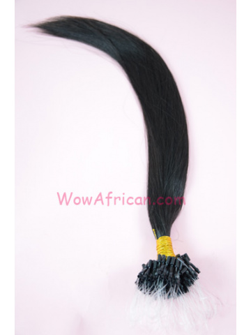 Indian Remy Hair Silky Straight Micro Loop Hair Extensions[ML01]