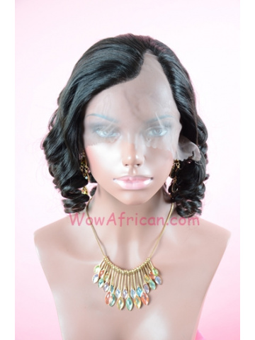 Natural Color Body Wave Brazilian Virgin Hair U Part Wigs[UPW08]