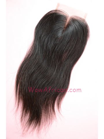 Middle Part Lace Closure Silky Straight Indian Virgin Hair [MC11]