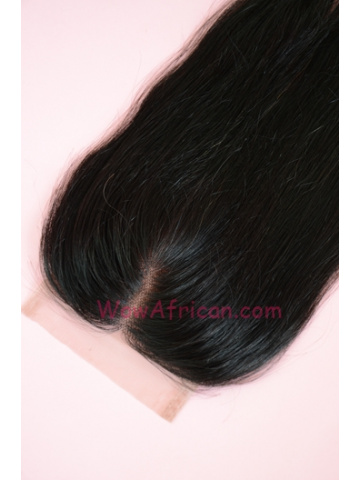 Middle Part Lace Closure 4x4inches Silky Straight Indian Remy Hair  [MC03]