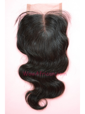 Middle Part Lace Closure 4x4inches Natural Color Body Wave Brazilian Virgin Hair  [MC05]