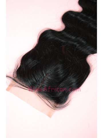Middle Part Lace Closure 4x4inches Body Wave Indian Remy Hair  [MC01]