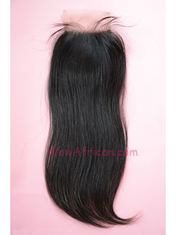 Natural Color Silky Straight Peruvian Virgin Hair Silk Base Closure 4x4inches [SC26]