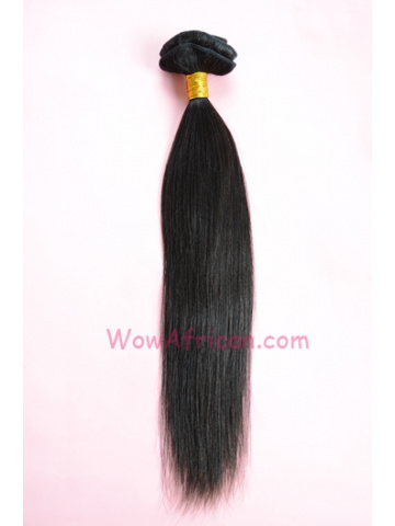 06Natural Color 8Pcs Yaki Straight Brazilian Virgin Hair Clip In Hair Extensions[CPB07]